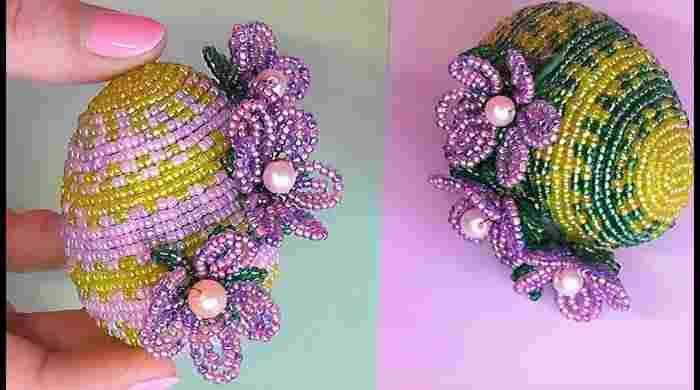 Великодні яйця з бісеру, схеми плетіння для початківців